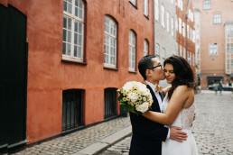 Wedding photographer in Copenhagen. Real wedding, elopement, Copenhagen City Hall